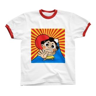 「あっぱれ ✋」〜どすこい!気ままに相撲ライフ〜 Ringer T-shirts