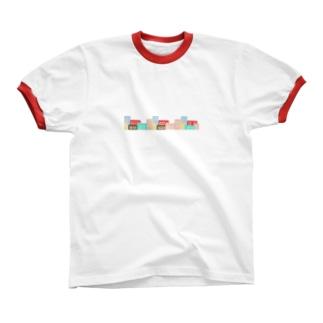 カラフルな街並み Ringer T-shirts