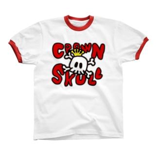 CROWN SKULL Ringer T-shirts