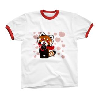 YSパンダ・ラブラブ Ringer T-shirts