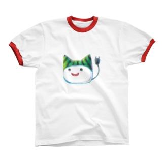 スイカ帽子ねこさん Ringer T-shirts