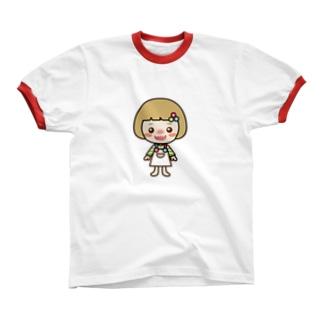セルちゃん Ringer T-shirts