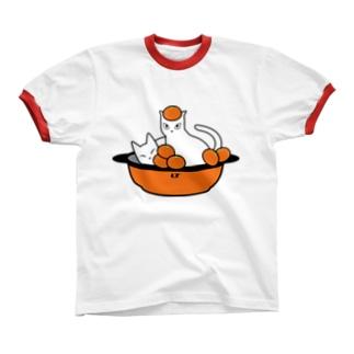 みかん猫 リンガーTシャツ