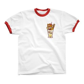 やるきないパフェ リンガーTシャツ