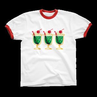 レモネードプールのメロンクリームソーダ Ringer T-shirts