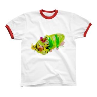 Bugs series -catapiller- リンガーTシャツ