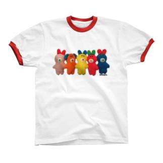 ピュンだらけ!カラフル リンガーTシャツ