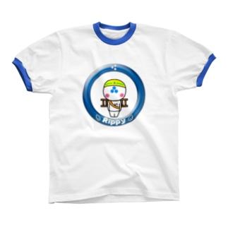 りっぴぃくん現場バージョン リンガーTシャツ
