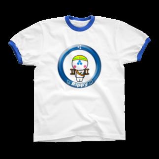 ビケ@BKF48 補欠のりっぴぃくん現場バージョン リンガーTシャツ