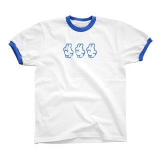 3(BLUE) Ringer T-shirts