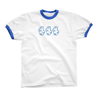 nsnの3(BLUE)リンガーTシャツ
