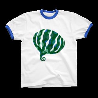 KatsuのgreensxartリンガーTシャツ
