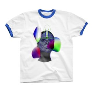 GRADIENTS リンガーTシャツ