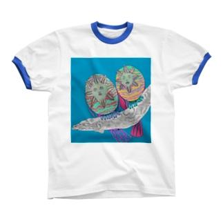 ムベンべ・バードのつがい リンガーTシャツ