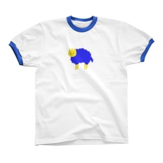 見ている blue リンガーTシャツ