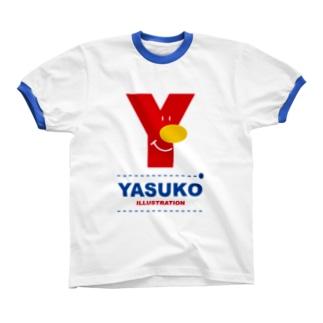 Yマーク(No.1) リンガーTシャツ