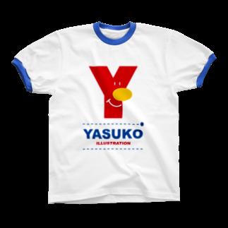YASUKOのYマーク(No.1) Ringer T-shirts