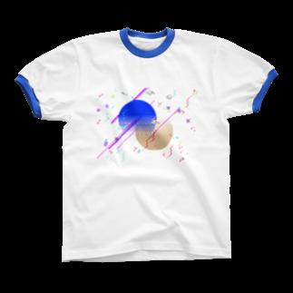 退化現象 硯出張所のPixel Color Composition Ⅰ(NoBack) Ringer T-shirts