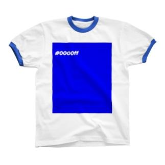 カラーコード -blue- リンガーTシャツ