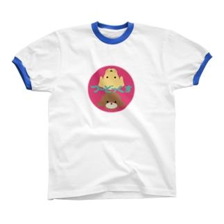 つ〜どっくす Ringer T-shirts