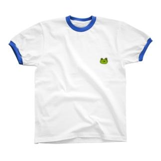 かえるのなおたろう リンガーTシャツ