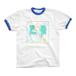 けだるい あつさ Ringer T-shirts