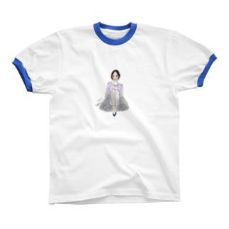 春色に揺れるⅡ Ringer T-shirts