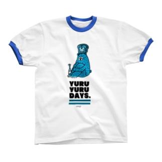 ao ao リンガーTシャツ
