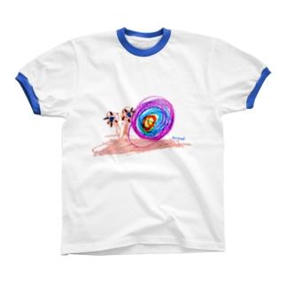Bugs series -snail- Ringer T-shirts