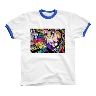 虹色エクスタシー Ringer T-shirts