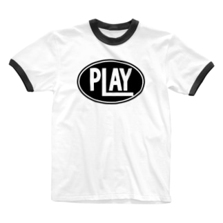 PLAY clothingのELLIPSE LOGO BL ① Ringer T-shirts
