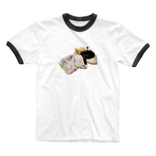 おやすみヒュー Ringer T-shirts