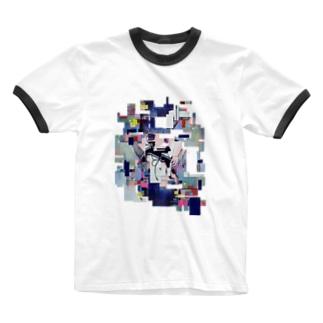 I/O コラージュ Ringer T-shirts