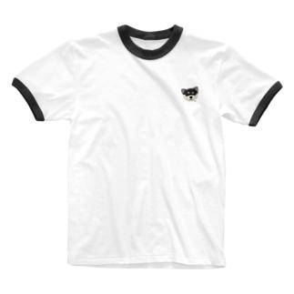 くろいぬ Ringer T-shirts