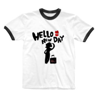 はにゅで♡ Ringer T-shirts