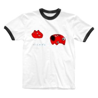 べっこのべこ Ringer T-shirts