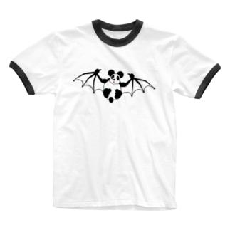 パンダリ Ringer T-shirts