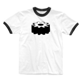 歯車 シンプルデザイン Ringer T-shirts