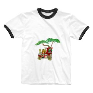 グリちゃん 靴磨き屋さん Ringer T-shirts