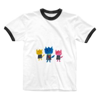 ノラヌコ3兄弟 Ringer T-shirts