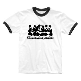 見パンダ言わパンダ聞かパンダ 2018 夏モデル Ringer T-shirts