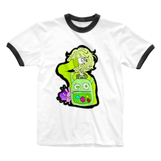 るーと。:°ஐ*。:°ʚ♥ɞ*。:°ஐ*のりゅっく Ringer T-shirts