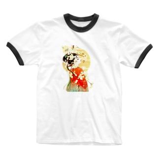 花魁 - A Ringer T-shirts