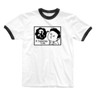 THINKING TIME Ringer T-shirts