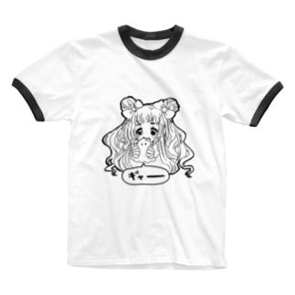 おばけになりたいガール(はらペコ)文字なしver. Ringer T-shirts
