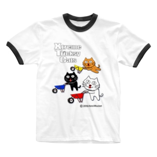 ネコ兄弟 tXTC_32 Ringer T-shirts