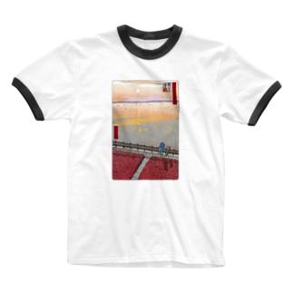 名所佐賀百景「東よか干潟」 Ringer T-shirts