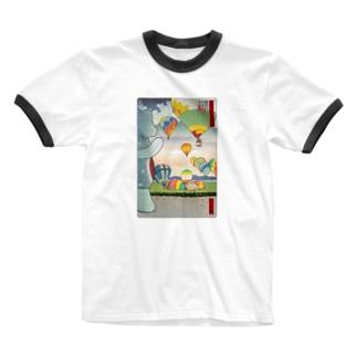 名所佐賀百景「佐賀インターナショナルバルーンフェスタ」 Ringer T-shirts