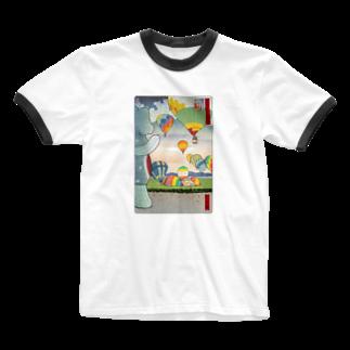 有明ガタァ商会の名所佐賀百景「佐賀インターナショナルバルーンフェスタ」 Ringer T-shirts