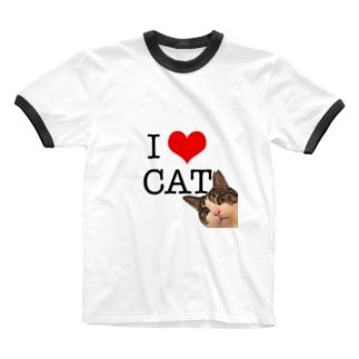I♡CAT Ringer T-shirts